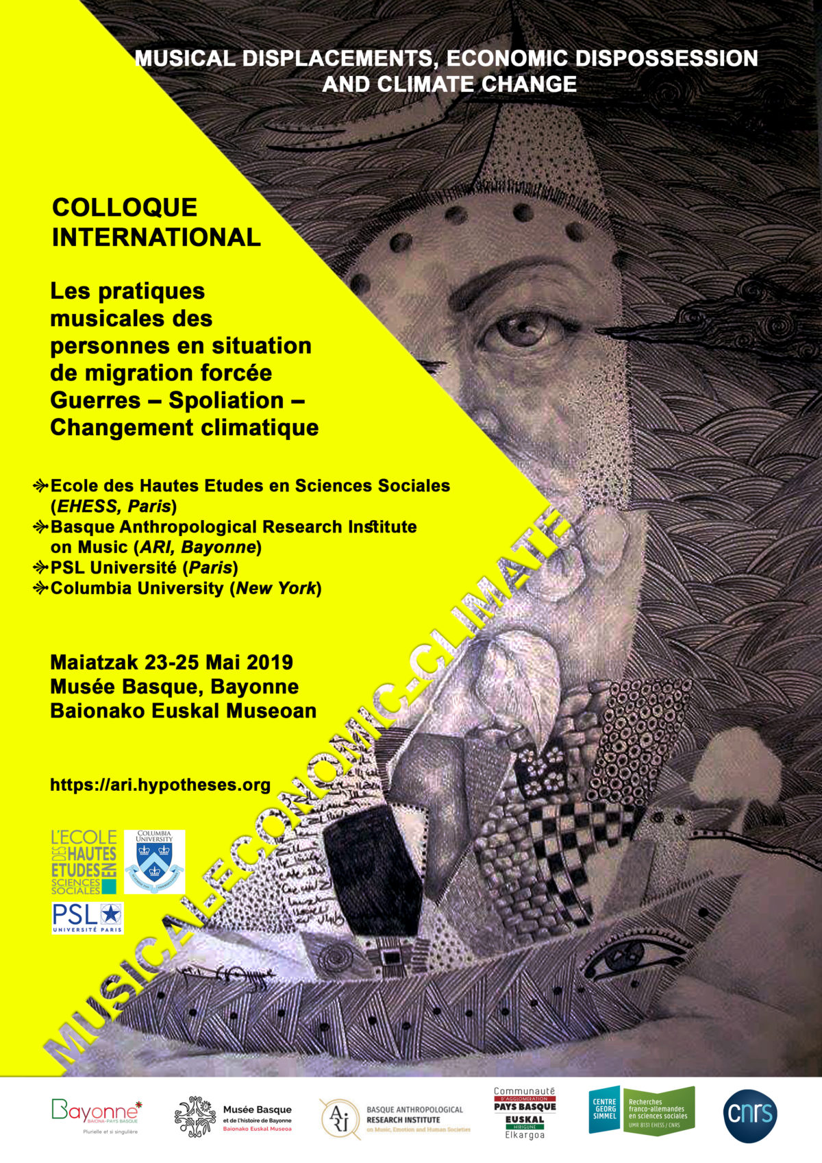 Musical Displacements, Economic Dispossession and Climate Change Bayonne, du 23 au 25 mai 2019